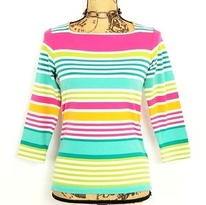 Ruby Rd Multicolored Striped Top
